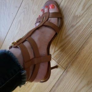 Michael Kors Heeled Leather Sandals Sandels